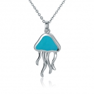 Jellyfish Pendant   - ss.Turquoise