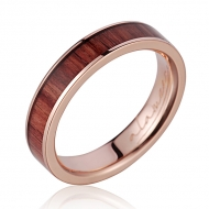 14K  PG Wood Ring Tulip