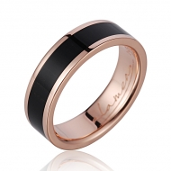 14K  PG Wood Ring Ebony