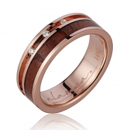 14K  PG Wood Ring Koa