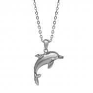 14K Dolphin Necklace
