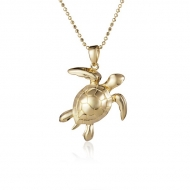 14K Turtle Necklace